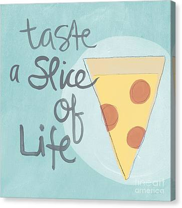 Eat Canvas Print - Slice Of Life by Linda Woods