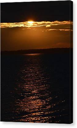 Slice Of Sun Canvas Print by Dacia Doroff