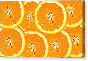 Canvas Print featuring the photograph Slices Of Citrus by Cecil Fuselier