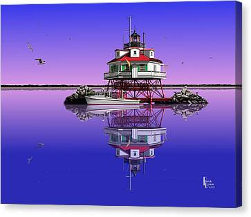Slick Cam At Thomas Point Canvas Print by Patrick Belote