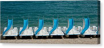 Slide Boats On Beach, Lac De Sainte Canvas Print