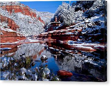 Canvas Print featuring the photograph Slide Rock  by Tom Kelly