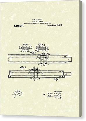 Slide Rule Runner 1915 Patent Art Canvas Print