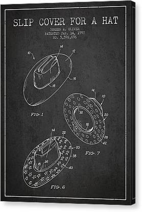 Slip Cover For A A Hat Patent From 1997 - Charcoal Canvas Print by Aged Pixel