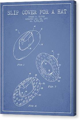 Slip Cover For A A Hat Patent From 1997 - Light Blue Canvas Print by Aged Pixel