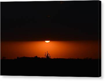 Sliver Of A Sunset Canvas Print