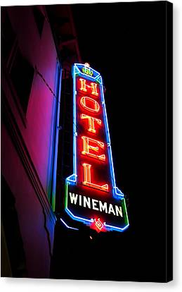 Slo Wineman Canvas Print by Paul Foutz