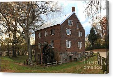 Sloan Park Grist Mill Canvas Print by Adam Jewell