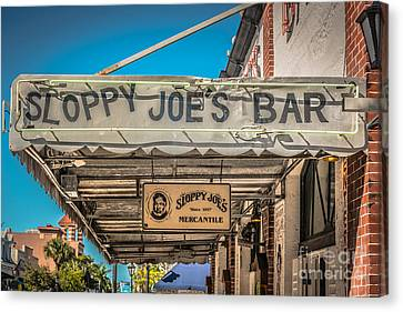 Sloppy Joe's Bar Canopy Key West - Hdr Style Canvas Print by Ian Monk