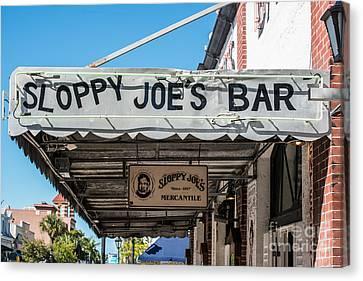 Sloppy Joe's Bar Canopy Key West Canvas Print by Ian Monk