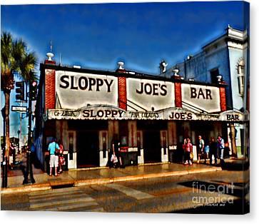 Sloppy Joe's Bar Canvas Print by Joan  Minchak