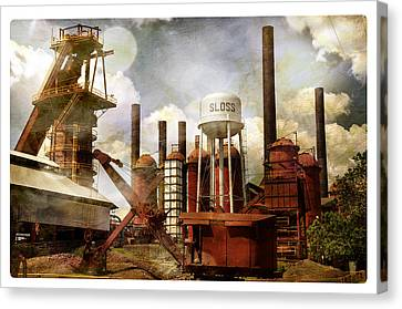 Sloss Furnace II Canvas Print by Davina Washington