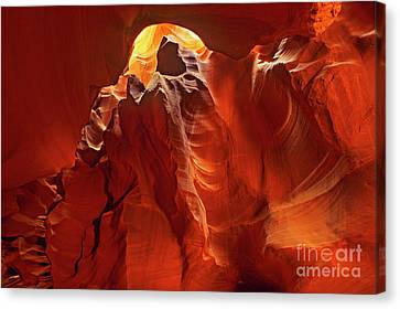 Canvas Print featuring the photograph Slot Canyon Formations In Upper Antelope Canyon Arizona by Dave Welling