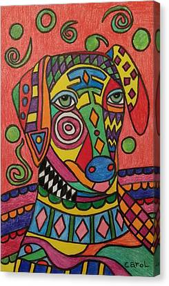 Sloughi Dog Canvas Print by Carol Hamby