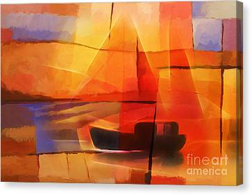 Slow Boat Canvas Print by Lutz Baar