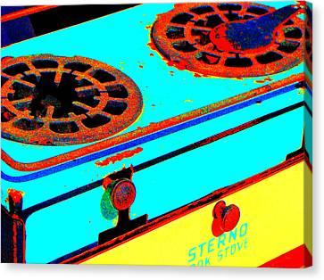 Turquoise And Rust Canvas Print - Slow Burn by Ira Shander