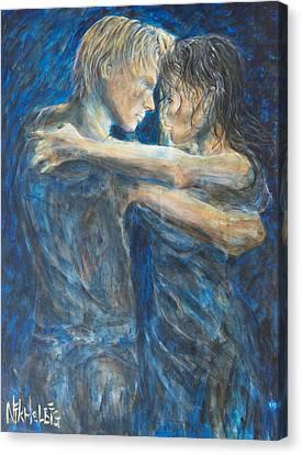 Slow Dancing Iv Canvas Print by Nik Helbig