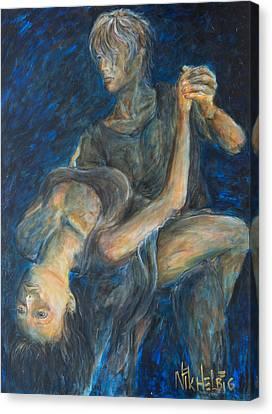 Slow Dancing V Canvas Print by Nik Helbig