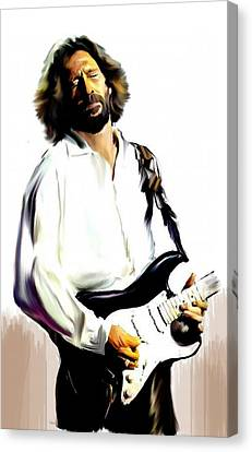 Slow Hand  Eric Clapton Canvas Print by Iconic Images Art Gallery David Pucciarelli