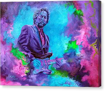 Slowhand Canvas Print by Kathleen Kelly Thompson