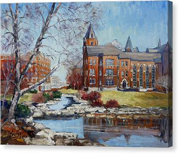 Slu Campus Cook Hall Canvas Print by Irek Szelag