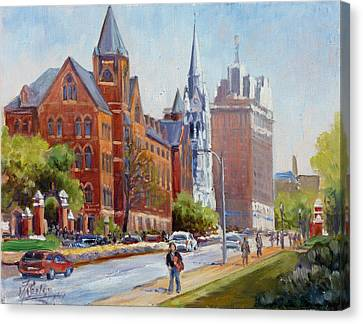 Slu Gate Grand Blvd Saint Louis Canvas Print by Irek Szelag