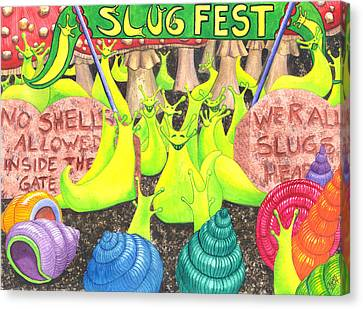 Slug Fest Canvas Print by Catherine G McElroy