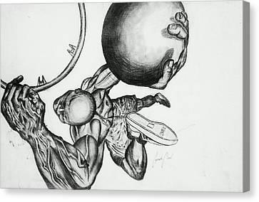 Small Ball Dunking Canvas Print by Cepada Cloud