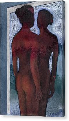 Small Blue Mirror Canvas Print