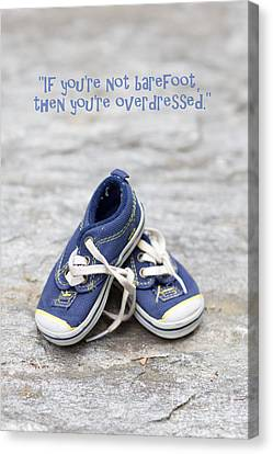 Sneakers Canvas Print - Small Blue Sneakers by Edward Fielding