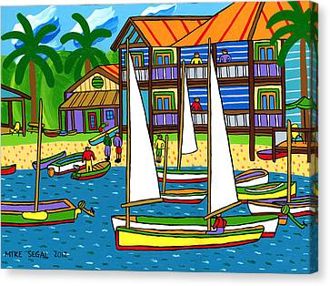 Small Boat Regatta - Cedar Key Canvas Print