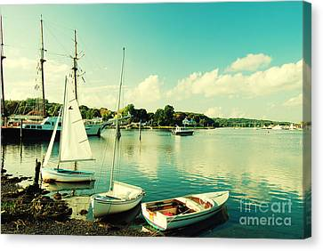 Small Boats In Mystic Connecticut Canvas Print