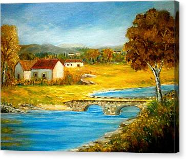 Small Cottage Canvas Print