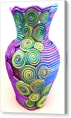 Small Filigree Vase Canvas Print by Alene Sirott-Cope