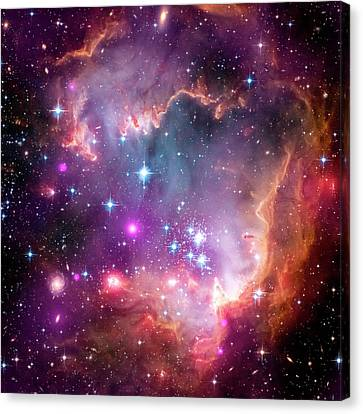 Small Magellanic Cloud Canvas Print by Nasa/cxc/jpl-caltech/stsci