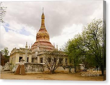 Small Monastery Near West Pwazaw Village Bagan Burma Canvas Print by Ralph A  Ledergerber-Photography