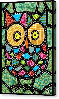 Small Quilted Owl Canvas Print by Jim Harris