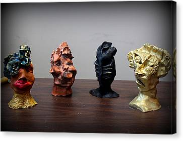 Small Sculptures  Canvas Print by Wynter Peguero