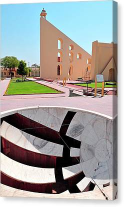 Yantra Canvas Print - Small Sundial (and A Larger One by Steve Roxbury