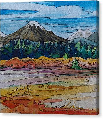 Small Sunriver Scene Canvas Print by Terry Holliday