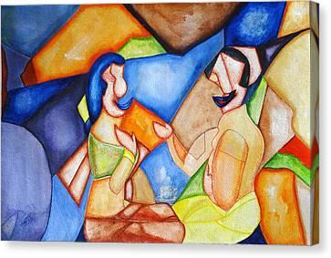 Small Talk-4 Canvas Print by Sheela Padmanabhan