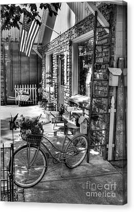 Small Town America Bw Canvas Print