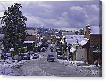 Canvas Print featuring the photograph Small Town America by Sherri Meyer
