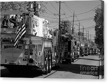 Small Town Parade Today Canvas Print by Steven Macanka