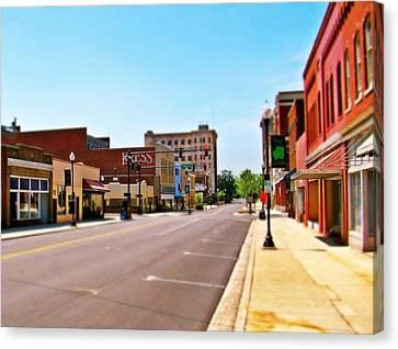 Small Town Canvas Print by Rodney Lee Williams