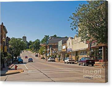 Crosswalk Canvas Print - Small Town Street by Richard and Ellen Thane