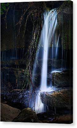 Water Flowing Canvas Print - Small Waterfall by Tom Mc Nemar