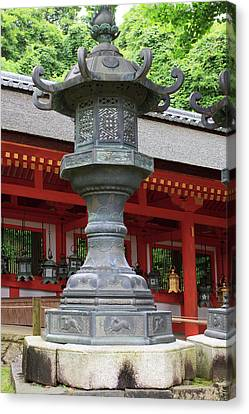 Smaller Metal And Gold Lanterns Canvas Print by Paul Dymond