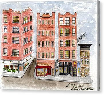 Small's Jazz Club On West 10th Street Canvas Print by AFineLyne