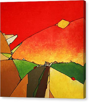Smalltown Canvas Print by Ahmed Amir